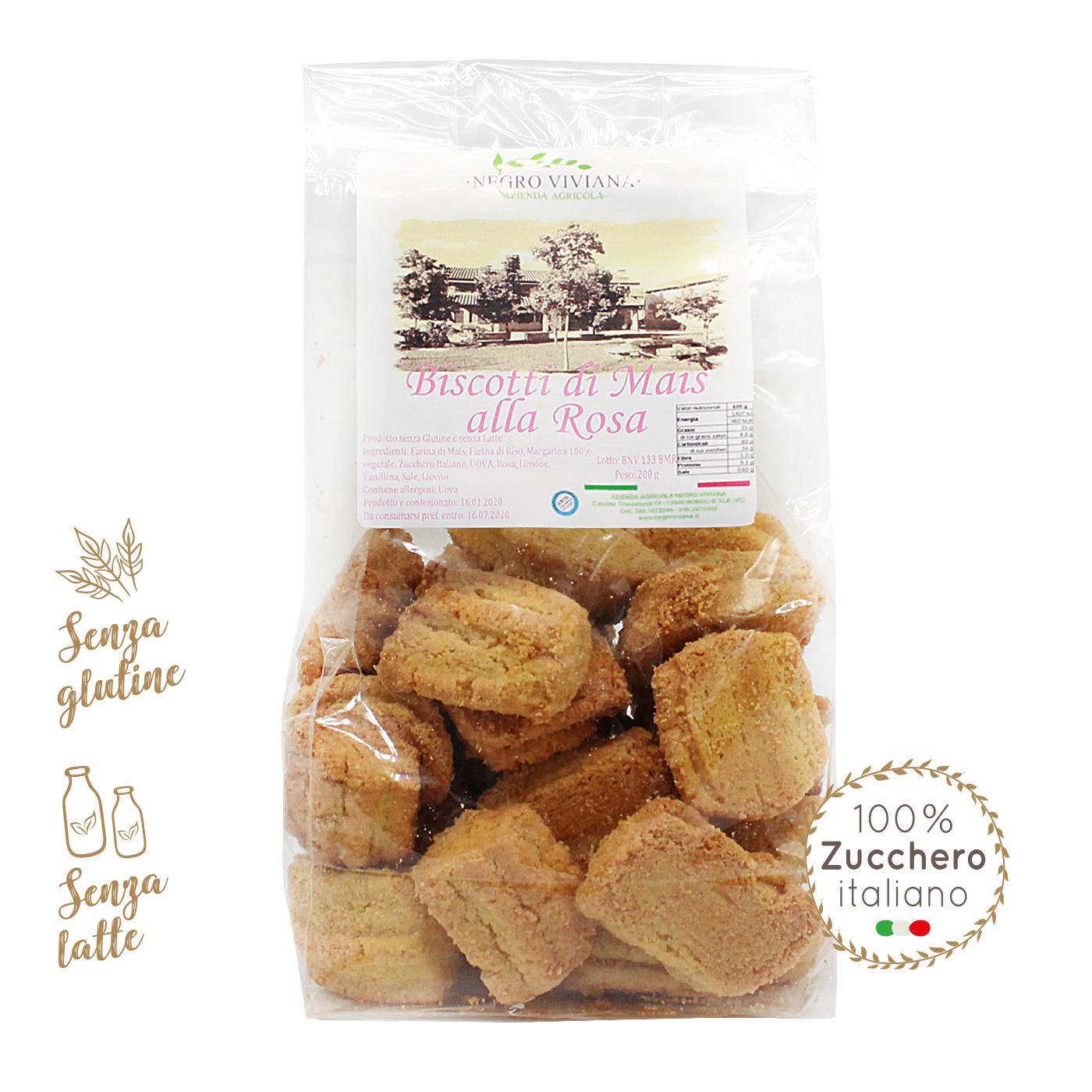 Biscotti di mais alla rosa   Azienda Agricola Negro Viviana