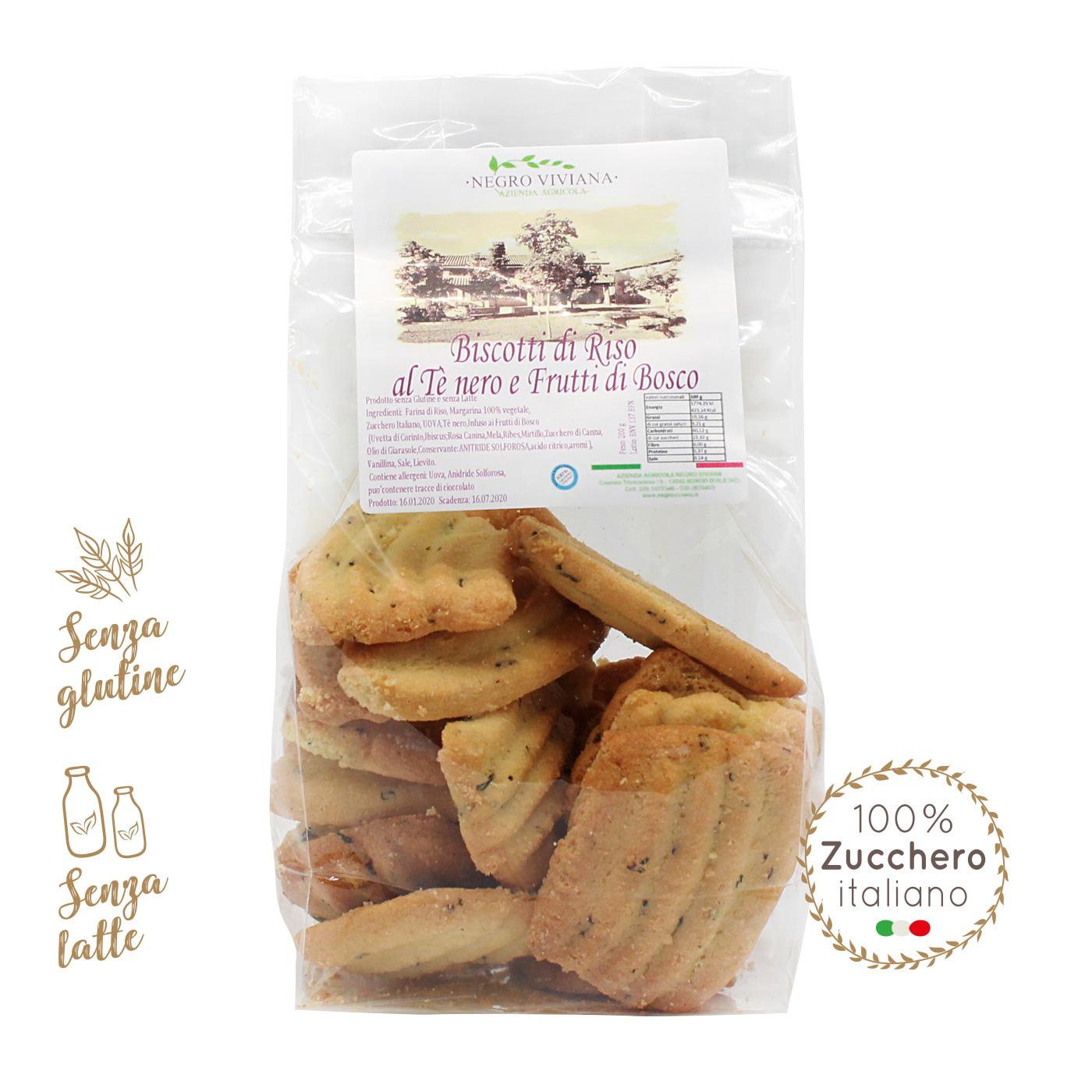 Biscotti di riso al Tè Nero e frutti di bosco   Azienda Agricola Negro Viviana