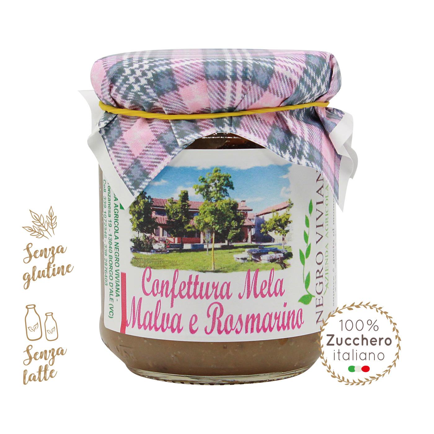 Confettura di mela, malva e rosmarino   Azienda Agricola Negro Viviana
