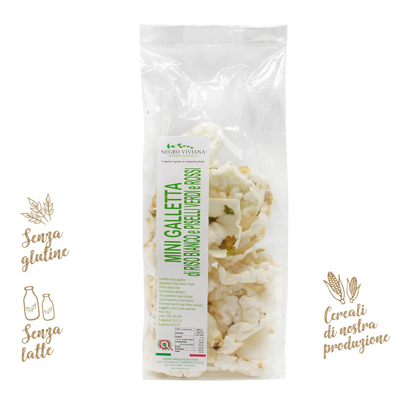 Mini gallette di riso bianco e piselli   Azienda Agricola Negro Viviana
