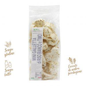 Mini gallette di riso bianco e timo | Azienda Agricola Negro Viviana