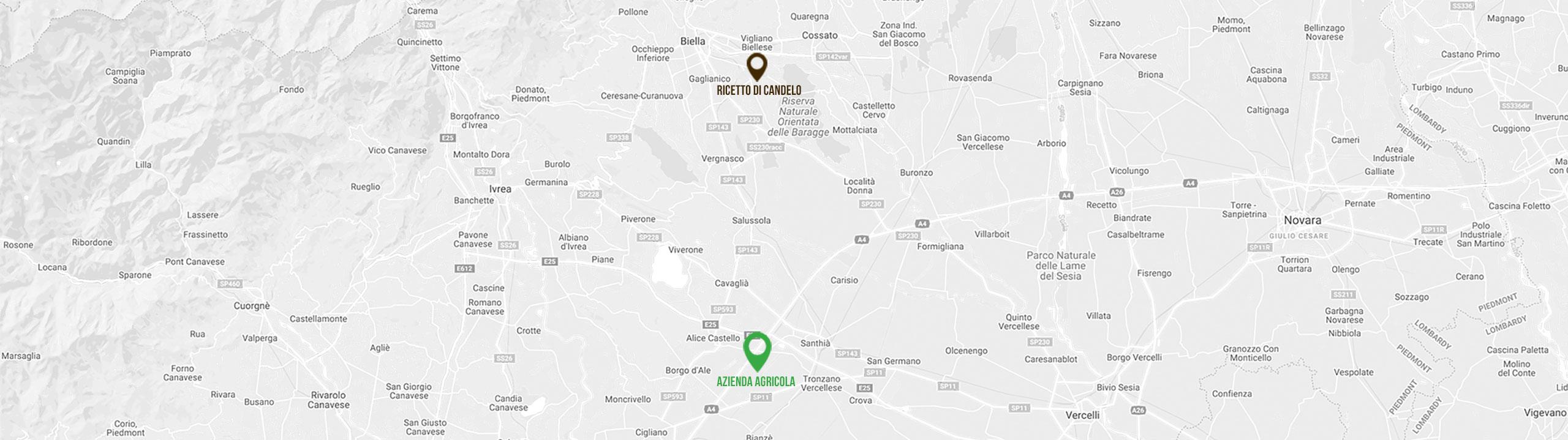 Mappa   Azienda Agricola Negro Viviana